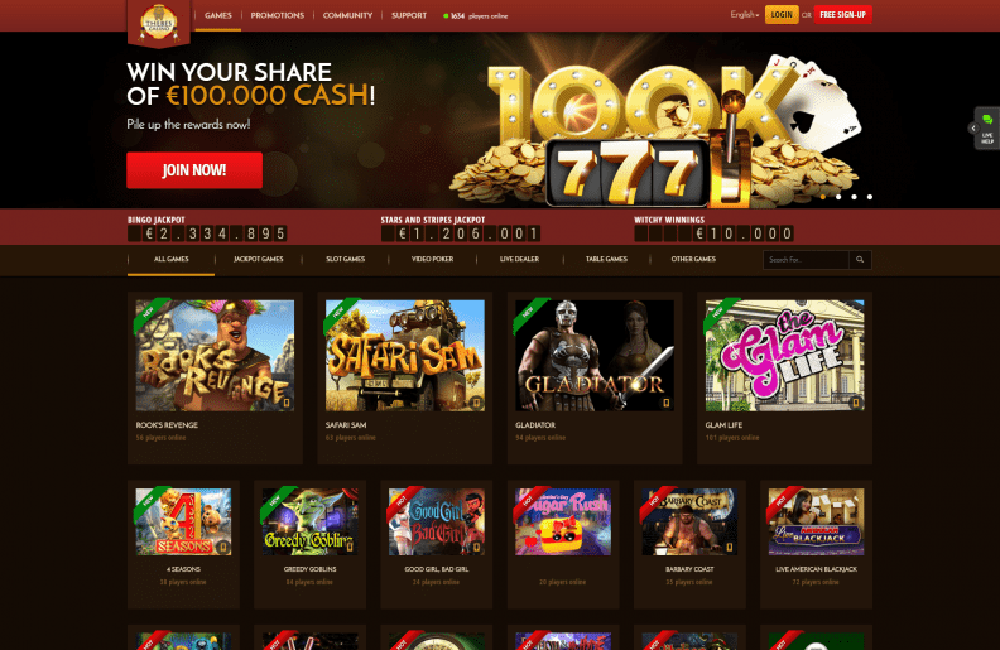 Thebes Casino Games